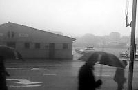 Bergensk regn.<br /> Foto: Svein Ove Ekornesvåg
