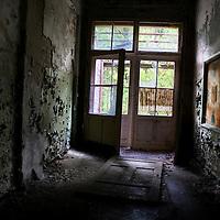 Corridor in old unsued hospital near Berlin