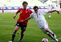 Fotball <br /> Privatlandskamp  U21 menn<br /> Friendly International U 21 Match<br /> Briskeby Gressbane <br /> 28.05.2010<br /> Norge v Ungarn<br /> Norway v Hungary 2-1<br /> Foto: Dagfinn Limoseth, Digitalsport<br /> Mads Stokkelien, Norway  , János Szabó , Hungary