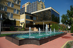 NOVI SAD, SERBIA - Tuesday, September 11, 2012: The Park Hotel in Novi Sad, Serbia. (Pic by David Rawcliffe/Propaganda)
