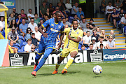 Tom Eliott in the Friendly match between AFC Wimbledon and Millwall at the Cherry Red Records Stadium, Kingston, England on 18 July 2015. Photo by Stuart Butcher.