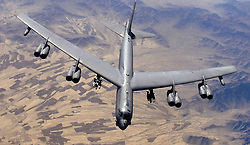 February 9, 2006 - Afghanistan - A U.S. Air Force B-52H Stratofortress strategic bomber aircraft flies over the desert February 9, 2006 in Afghanistan. (Credit Image: © Lance Cheung/Planet Pix via ZUMA Wire)