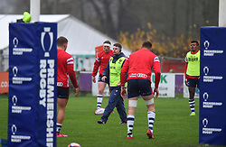 George van Klaveren of Bristol Bears puts the players through their warm-up routines - Mandatory by-line: Paul Knight/JMP - 02/12/2018 - RUGBY - Clifton RFC - Bristol, England - Bristol Bears United v Harlequins - Premiership Rugby Shield