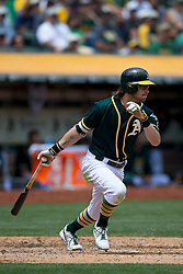 OAKLAND, CA - JULY 23:  Josh Reddick #22 of the Oakland Athletics at bat against the Toronto Blue Jays during the third inning at O.co Coliseum on July 23, 2015 in Oakland, California. The Toronto Blue Jays defeated the Oakland Athletics 5-2. (Photo by Jason O. Watson/Getty Images) *** Local Caption *** Josh Reddick