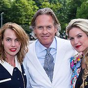 NLD/Amsterdam/20130708- AFW 2013 zomer, modeshow Claes Iversen, Sophie van der Stap, Jort Kelder en partner Lauren Verster