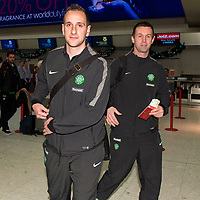 06/01/15 <br /> GLASGOW AIRPORT<br /> Celtic manager Ronny Deila (right) with John Kennedy