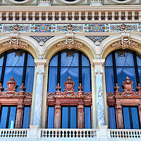 Op&eacute;ra de Monte-Carlo Window Arches in Monte Carlo, Monaco<br />