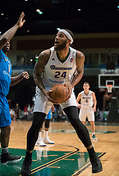 March 20, 2017 - Reno, Nevada, U.S - Reno Bighorn Center JALEEL COUSINS (24) works in the paint against Texas Legends Forward JAMEEL WARNEY (0) during the NBA D-League Basketball game between the Reno Bighorns and the Texas Legends at the Reno Events Center in Reno, Nevada. (Credit Image: © Jeff Mulvihill via ZUMA Wire)