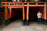Tori gates at Fushimi Inari, Kyoto.