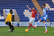 Macauley Bonne scores his sides first goal to make the scoreline 1-0 during the Sky Bet League 1 match between Colchester United and Coventry City at the Weston Homes Community Stadium, Colchester<br /> Picture by Richard Blaxall/Focus Images Ltd +44 7853 364624<br /> 14/11/2015