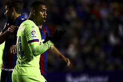 January 10, 2019 - Valencia, Spain - Malcom of FC Barcelona during  spanish King Cup  match between Levante UD v FC Barcelona  at Ciutat de Valencia  Stadium on January  10, 2018. (Photo by Jose Miguel Fernandez/NurPhoto) (Credit Image: © Jose Miguel Fernandez/NurPhoto via ZUMA Press)