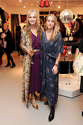 Left to right, JAN DE VILLENEUVE and DAISY DE VILLENEUVE at the H&M Home Launch held at 174-176 Oxford Street, London W1 on 2nd November 2010.