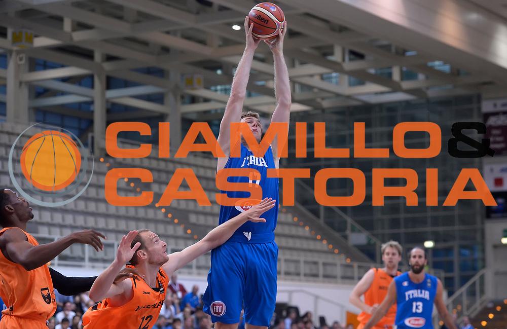 DESCRIZIONE : Trento Nazionale Italia Uomini Trentino Basket Cup Italia Paesi Bassi Italy Netherlands <br /> GIOCATORE : Nicol&ograve; Melli<br /> CATEGORIA : rimbalzo<br /> SQUADRA : Italia Italy<br /> EVENTO : Trentino Basket Cup<br /> GARA : Italia Paesi Bassi Italy Netherlands<br /> DATA : 30/07/2015<br /> SPORT : Pallacanestro<br /> AUTORE : Agenzia Ciamillo-Castoria/R.Morgano<br /> Galleria : FIP Nazionali 2015<br /> Fotonotizia : Trento Nazionale Italia Uomini Trentino Basket Cup Italia Paesi Bassi Italy Netherlands