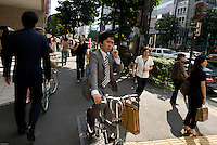 A business man in the Aoyama district of Tokyo.