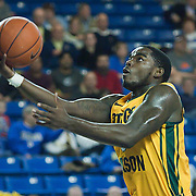 02/01/12 Newark DE: George Mason Sophomore Guard Bryon Allen #0 attempts a lay up during a Colonial Athletic Association conference Basketball Game against Delaware Wed, Feb. 1, 2012 at the Bob Carpenter Center in Newark Delaware.