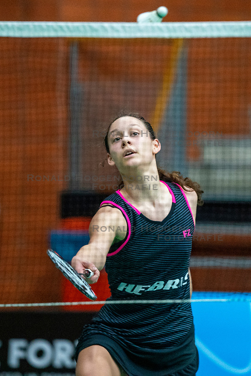 Novi Wieland during the Dutch Championships Badminton on February 1, 2020 in Topsporthal Almere, Netherlands