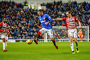 Kyle Lafferty of Rangers controls the ball going forward  during the Ladbrokes Scottish Premiership match between Rangers and Hamilton Academical FC at Ibrox, Glasgow, Scotland on 16 December 2018.