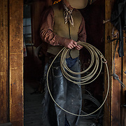 Hunter with Lariat, CM Ranch, Wyoming
