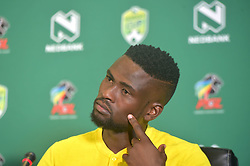 SOUTH AFRICA: JOHANNESBURG: Kaizer Chiefs player Kgotso Moleko speak during the Nedbank cup press conference, Gauteng.<br /> Picture: Itumeleng English/African News Agency(ANA)<br /> 23.01.2019