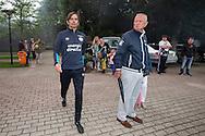 EINDHOVEN, eerste training PSV, voetbal, Eredivisie seizoen 2016-2017, 27-6-2016, Trainingscomplex de Herdgang, spelers en staf komen het veld op, Phillip Cocu.