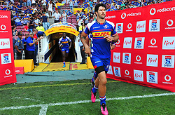 Cape Town 180217-Stomers player EW Wiljoen  take the field when playing their opening game of the Rugby Super 15 at Newlands.Photograph:Phando Jikelo/African News Agency/ANA