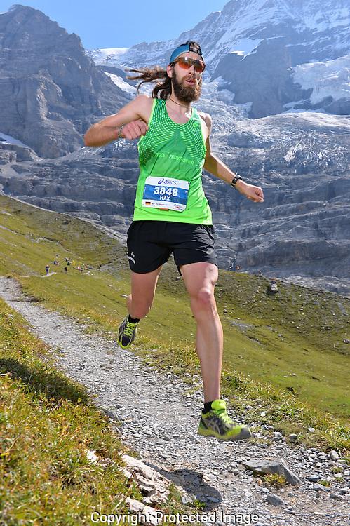 Runner at the 2016 Jungfrau Marathon in the Swiss Alps