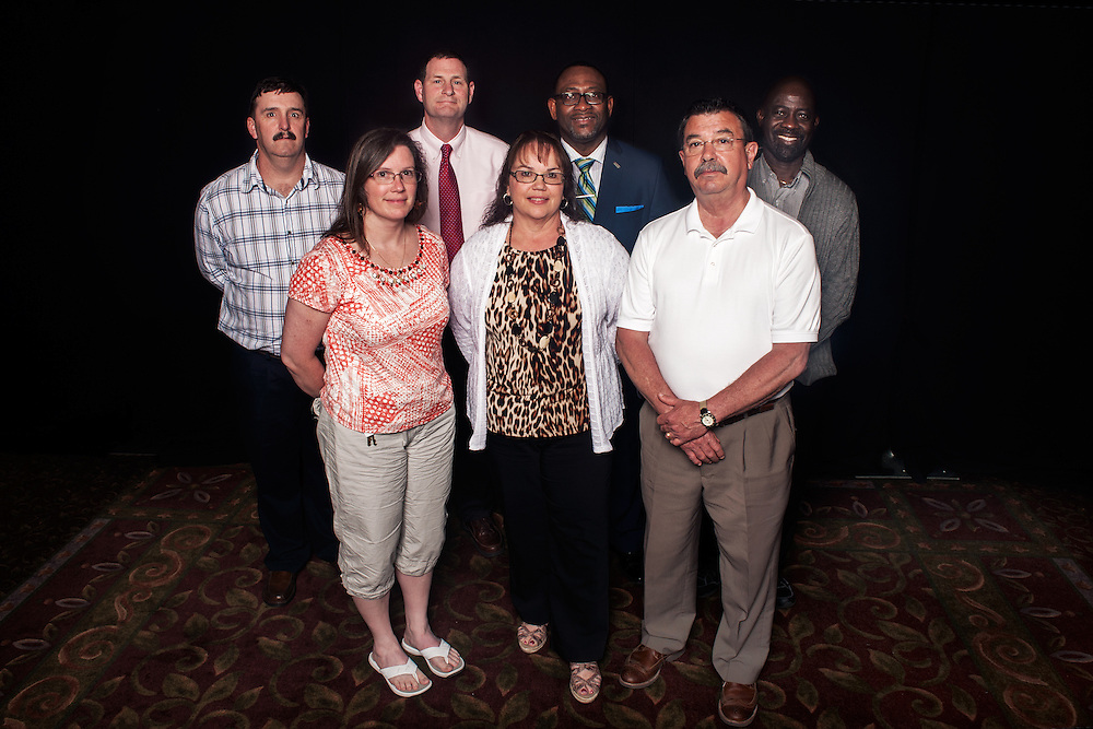 Administrative staff honored at the service awards ceremony. Photo by: Ross Brinkerhoff.