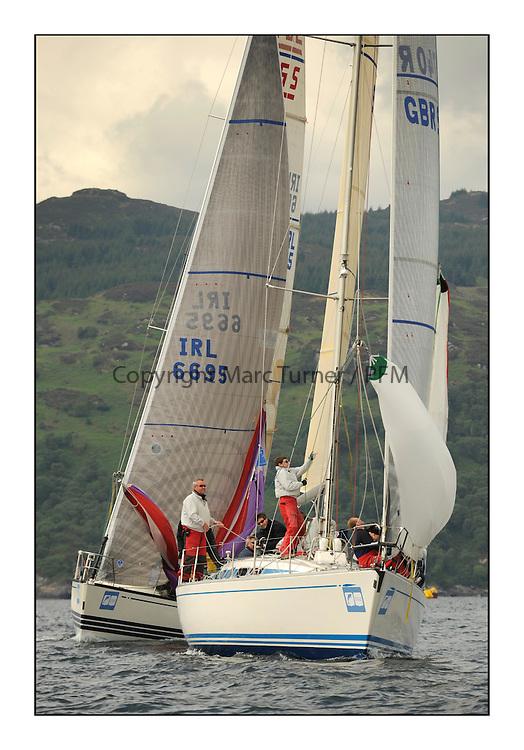 Brewin Dolphin Scottish Series 2012, Tarbert Loch Fyne - Yachting - Day 1 - Bowmore Fleet.GBR9740R ,Sloop John T ,Iain & Graham Thomson ,CCC ,Swan 40..