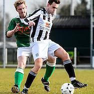 05-03-2016: Voetbal: SPV'81v Dubbeldam: Polsbroek<br /> <br /> SPV'81voetballer Arjan van der Ham (groen) in actie tijdens de wedstrijd tegen Dubbeldam die hij met 3-4 verloor<br /> <br /> Foto: Gertjan Kooij