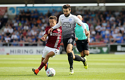 Michael Doughty of Peterborough United in action with Shaun McWilliams of Northampton Town - Mandatory by-line: Joe Dent/JMP - 26/08/2017 - FOOTBALL - Sixfields Stadium - Northampton, England - Northampton Town v Peterborough United - Sky Bet League One
