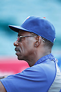 ANAHEIM, CA - AUGUST 18:  Manager Ron Washington #38 of the Texas Rangers looks on during the game against the Los Angeles Angels of Anaheim on August 18, 2011 at Angel Stadium in Anaheim, California. The Angels won the game 2-1. (Photo by Paul Spinelli/MLB Photos via Getty Images) *** Local Caption *** Ron Washington