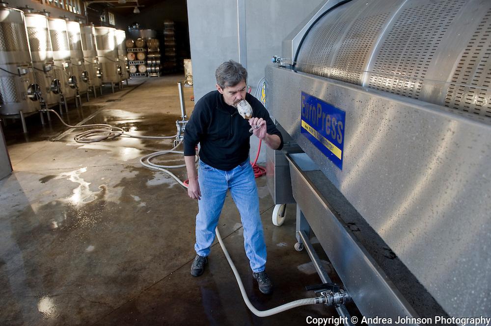 Ron Penner-Ash sampling wine,  Willamette Valley, Oregon