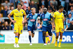 Ollie Clarke of Bristol Rovers cuts a dejected figure as Wycombe Wanderers celebrate scoring a goal - Mandatory by-line: Robbie Stephenson/JMP - 18/08/2018 - FOOTBALL - Adam's Park - High Wycombe, England - Wycombe Wanderers v Bristol Rovers - Sky Bet League One