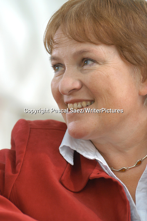 British writer and broadacster Libby Purves at the Edinburgh International Book Festival 2004<br /> <br /> Copyright Pascal Saez<br /> Pascal Saez / Writer Pictures