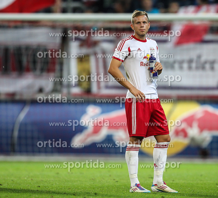 22.08.2013, Red Bull Arena, Salzburg, AUT, UEFA EL Play Off, FC Red Bull Salzburg vs VMFD Zalgiris, Hinspiel, im Bild Marco Meilinger, (FC Red Bull Salzburg, #11) nach dem Spiel// during UEFA Europa League Qualification 1st Leg Match between FC Red Bull Salzburg and VMFD Zalgiris at the Red Bull Arena, Salzburg, Austria on 2013/08/22. EXPA Pictures © 2013, PhotoCredit: EXPA/ Roland Hackl