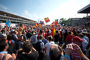 September 10-12, 2010: Italian Grand Prix. Monza podium celebrations