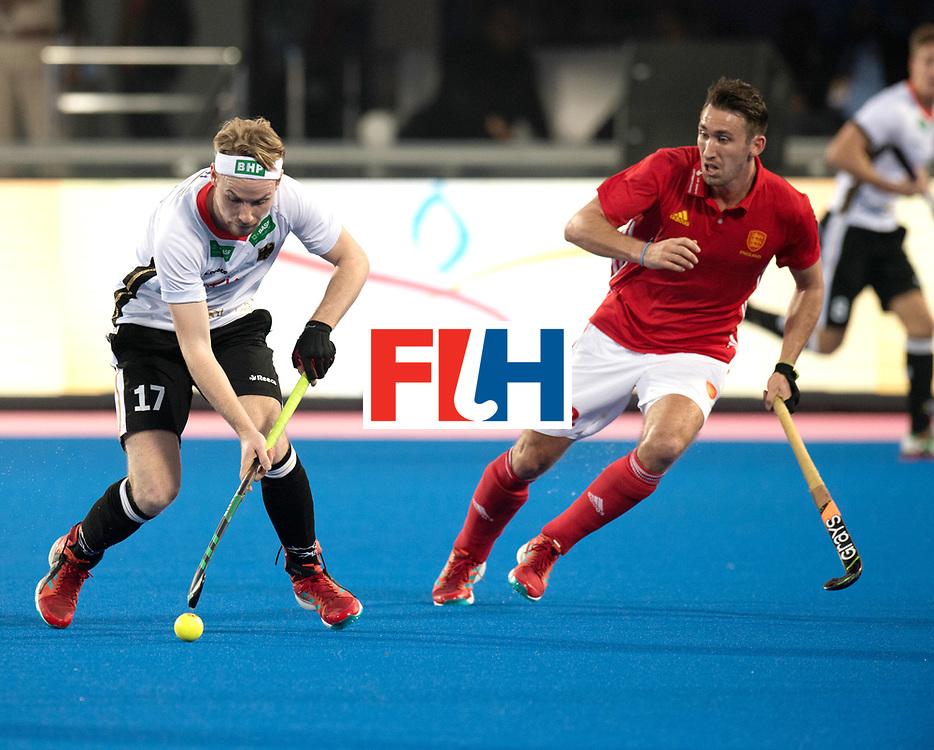 Odisha Men's Hockey World League Final Bhubaneswar 2017<br /> Match id:01<br /> Germany v England<br /> Foto: Christopher Ruehr (Ger) and David Condon (Eng) <br /> WORLDSPORTPICS COPYRIGHT FRANK UIJLENBROEK