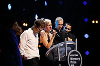 Wolf Alice address the crowd after winning the Mercury Prize