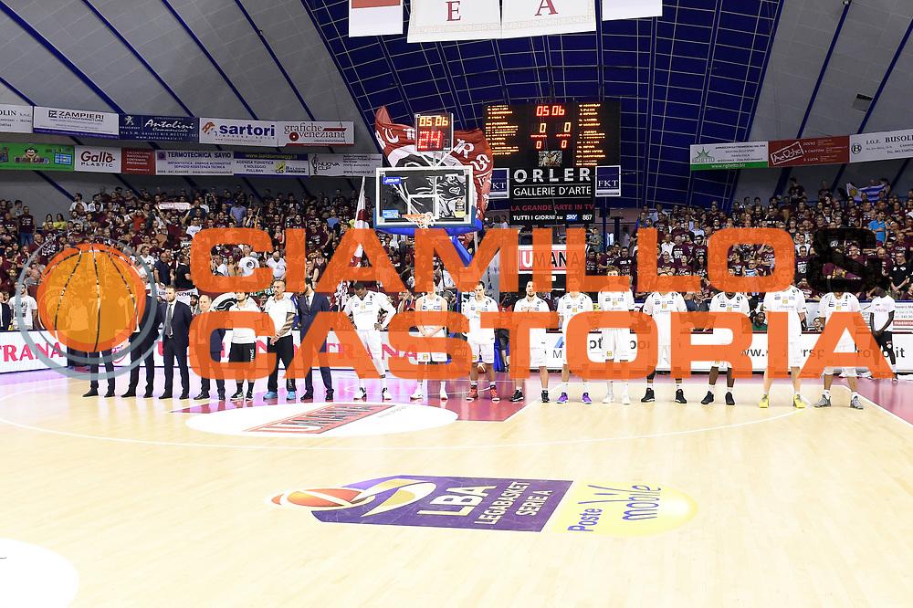 Dolomiti Energia Trentino team<br /> Umana Reyer Venezia - Dolomiti Energia Aquila Basket Trento<br /> Lega Basket Serie A 2016/2017<br /> Playoff, finale gara 2<br /> Venezia, 12/06/2017<br /> Foto M.Ceretti / Ciamillo-Castoria