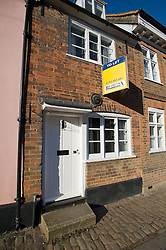 © London News PIctures. 14/01/2012. Amersham, UK. The former home of Conservative MP Cheryl Gillan (house with yellow to let sign) on Whielden Street  in Amersham, Buckinghamshire. The Welsh secretary sold her home, which is on the proposed High Speed 2 rail path, just two months before the government gave the go-ahead for the controversial project. Photo credit : Ben Cawthra/LNP