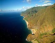 Honopu, and Kalalau, Napali Coast, Kauai, Hawaii