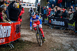 VENTURINI Clement (FRA) during the Men Elite race, UCI Cyclo-cross World Cup #8 at Hoogerheide, Noord-Brabant, The Netherlands, 22 January 2017. Photo by Pim Nijland / PelotonPhotos.com | All photos usage must carry mandatory copyright credit (Peloton Photos | Pim Nijland)