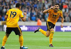 Ruben Neves of Wolverhampton Wanderers celebrates his goal - Mandatory by-line: Nizaam Jones/JMP - 11/08/2018/ - FOOTBALL -Molineux  - Wolverhampton, England - Wolverhampton Wanderers v Everton - Premier League
