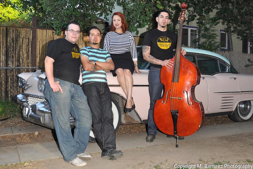 The Rhythm Shakers  at Wild Records studio in Altadena, CA 5/2/2010.