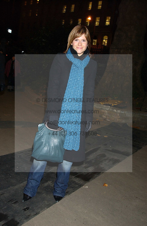 Radio presenter HARRIETT SCOTT at the opening of the Natural History Museum's Ice Rink on 16th November 2005.<br /><br />NON EXCLUSIVE - WORLD RIGHTS