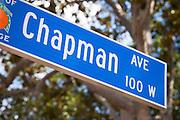 Chapman Ave in Old Towne Orange California