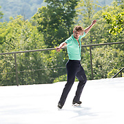 Matej Silecky of Ice Dance International performs on the outdoor stage at Jacobs Pillow, July 2019