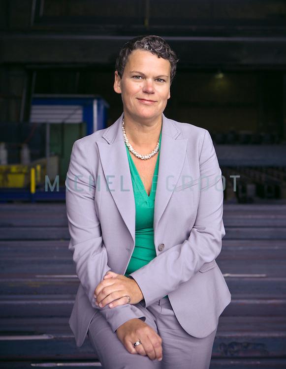 Caroline Princen, directeur van Nedstaal in Alblasserdam, The Netherlands on 04 September, 2008.  (photo by Michel de Groot)