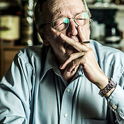 PETERSBURG, VA - OCT 12: Olavo de Carvalho, photographed at his home on Thursday, Oct. 12, 2017 in Lynchburg, Va. (Photo by Jay Westcott/Polaris Images)