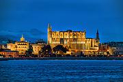 La Seu, Palma Cathedral, Palma de Majorca, Balearic Islands,  Spain